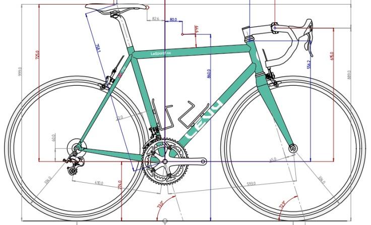 Phil Adkins Sportif custom fillet brazed frame