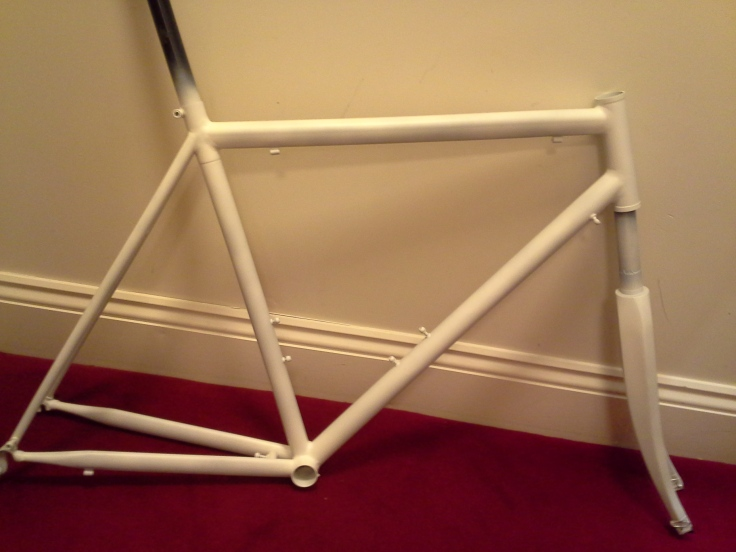 primed frame ready for paint