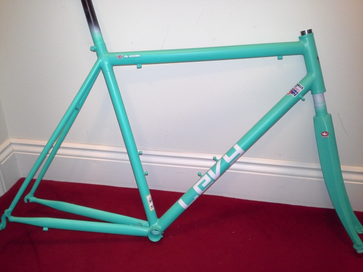 decaled frame read for top coat