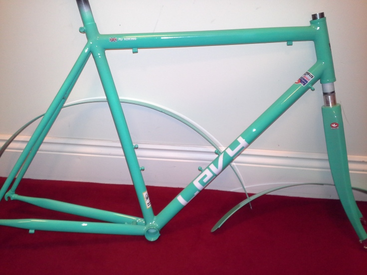 Gloss coat bike frame