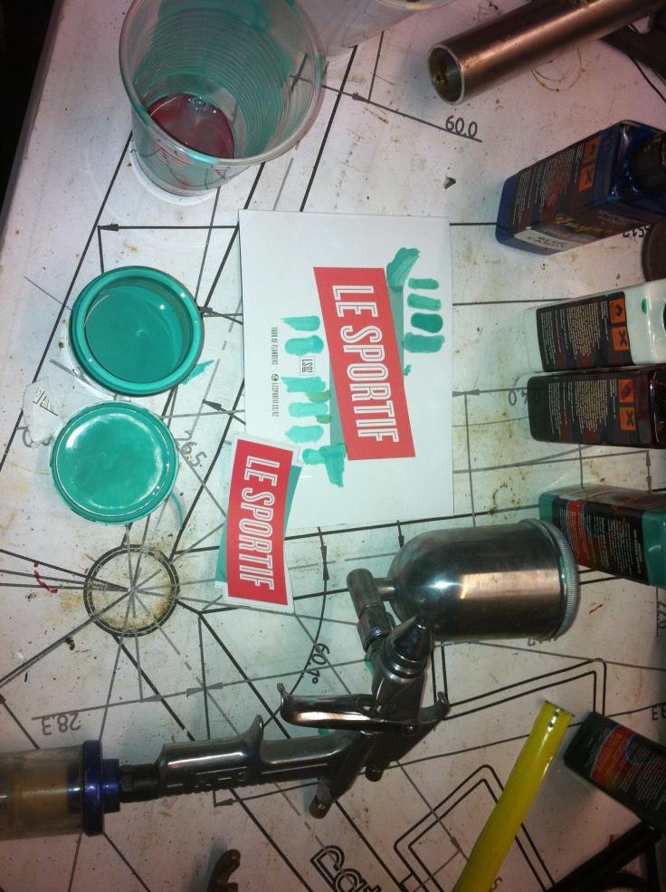 Inspire airbrush paint for custom bike frames